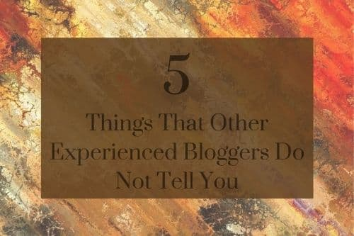 5 Things That Other Experienced Bloggers Do Not Tell You